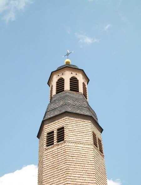 Eglise du XIIIè au Châtenet en Dognon et son clocher à bulbe