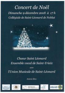 Concert de Noël du Choeur de Saint-Léonard de Noblat