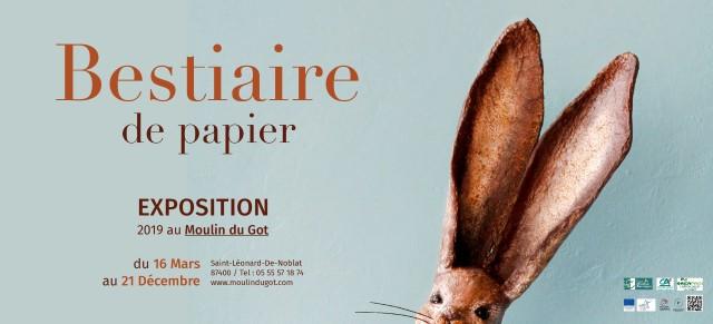 Exposition Bestiaire de Papier du Moulin du Got