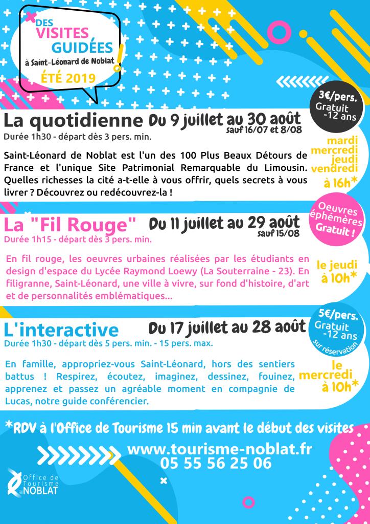 Visites guidées Saint-Léonard de Noblat 2019