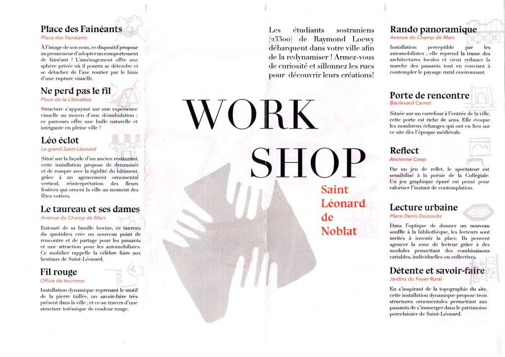 Explications des oeuvres du workshop