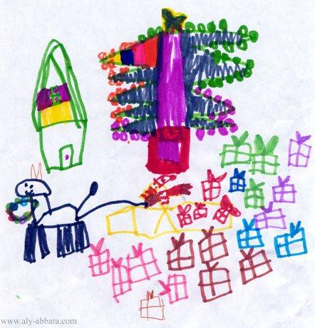 Dessins de Noël des enfants