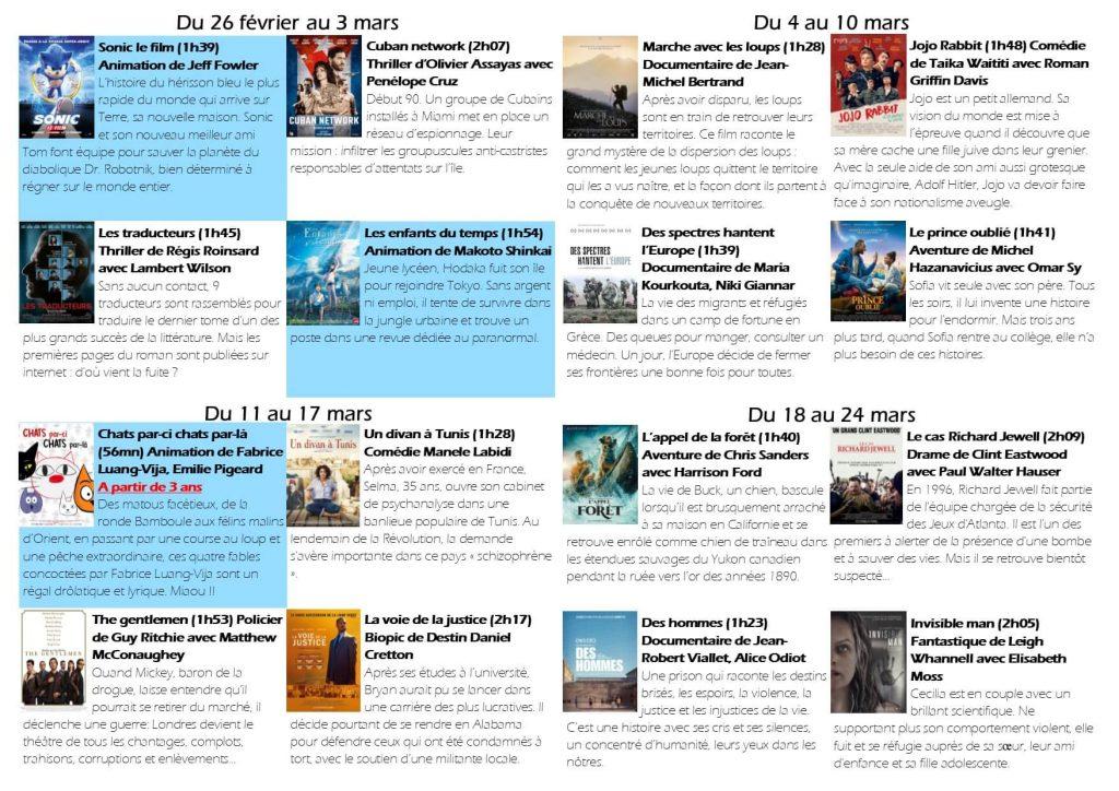 Cinéma en mars