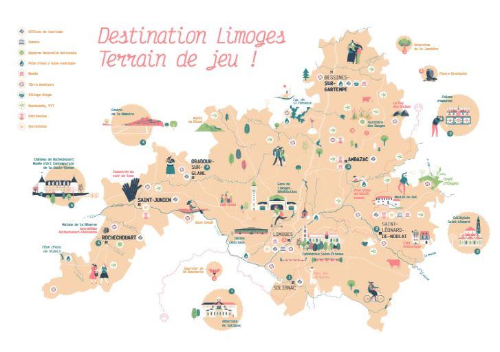 Visuel de la carte Destination Limoges 2020