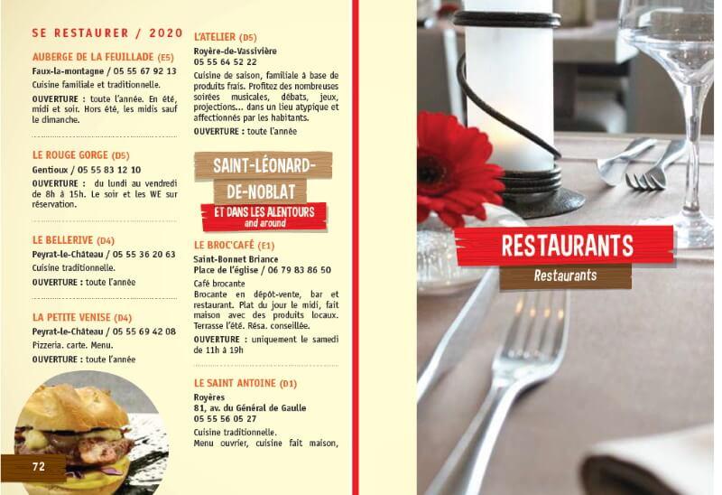Visuel du guide des restaurants