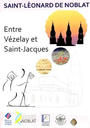 Visuel de la brochure sur le pèlerinage à Saint Léonard de Noblat entre Vézelay et Saint Jacques de Compostelle
