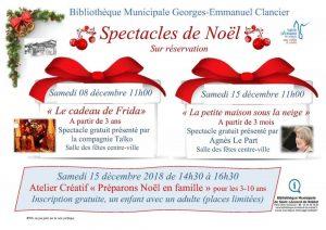 Animations de Noël de la Bibliothèque de Saint-Léonard de Noblat