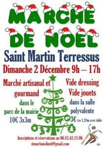 Marché de Noël à Saint-Martin Terressus