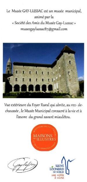 Visuel de la brochure du Musée Gay Lussac