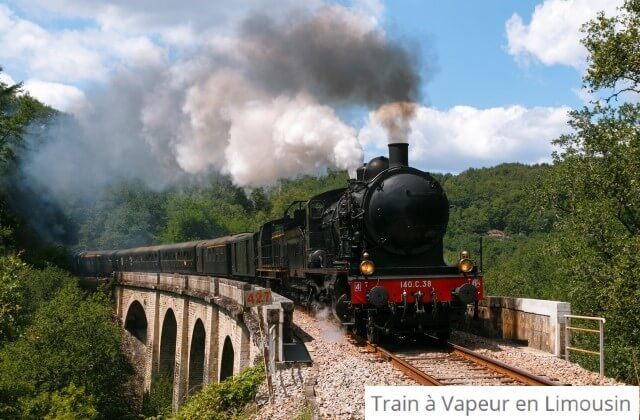Train vapeur en Limousin