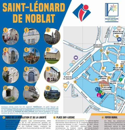 Plan de ville de Saint-Léonard de Noblat