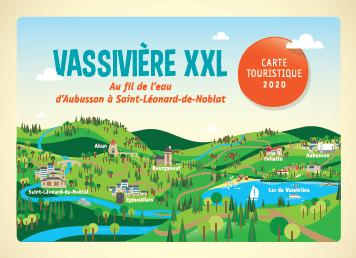 Visuel de la carte touristique Vassivière XXL 2020