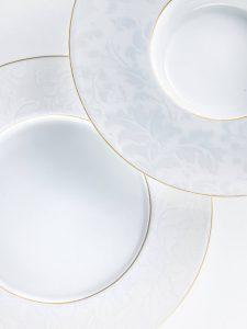 Assiettes de porcelaine de Limoges JL Coquet