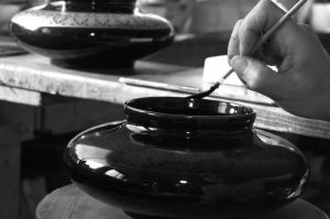 Décoration de porcelaine de Limoges