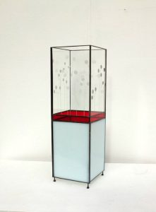Lampe en vitrail de Roulie Verre