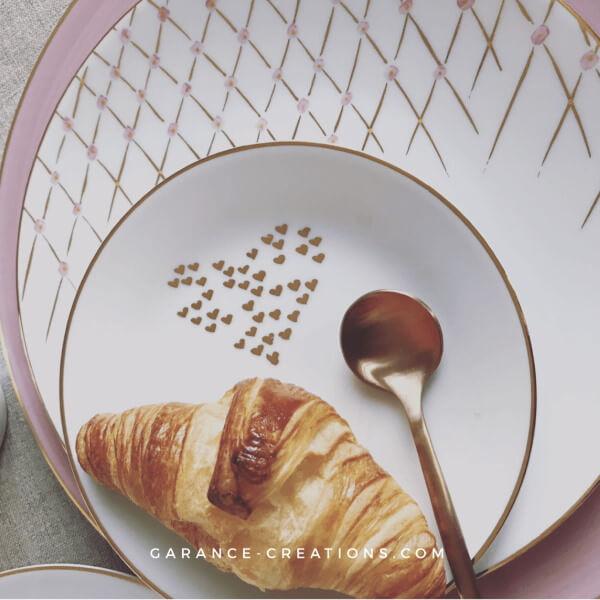 Porcelaine de Limoges peinte à la main © Garance Créations
