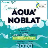 Dépliant de l'Espace Aqua'Noblat