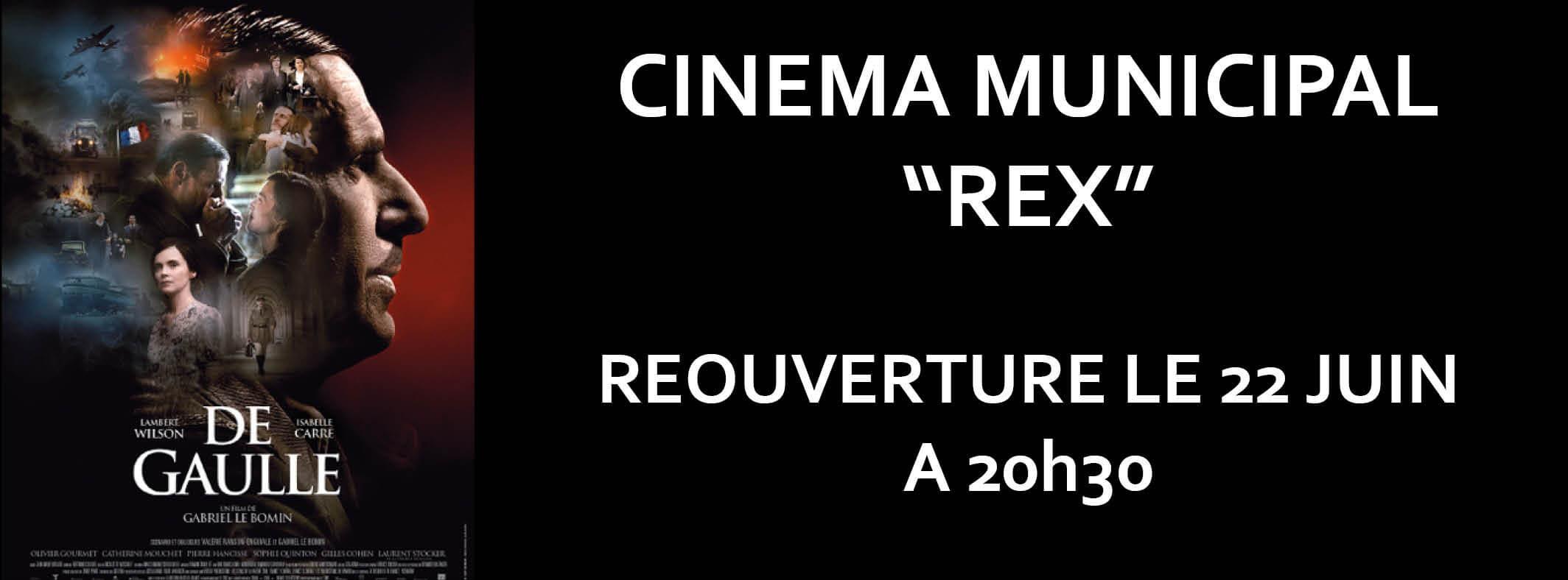 Réouverture du cinéma le 22 juin !