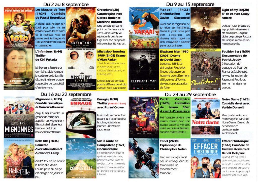 Cinéma en septembre