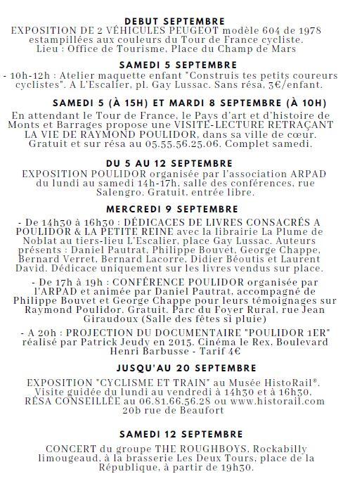 Tour de France et hommage à Poulidor