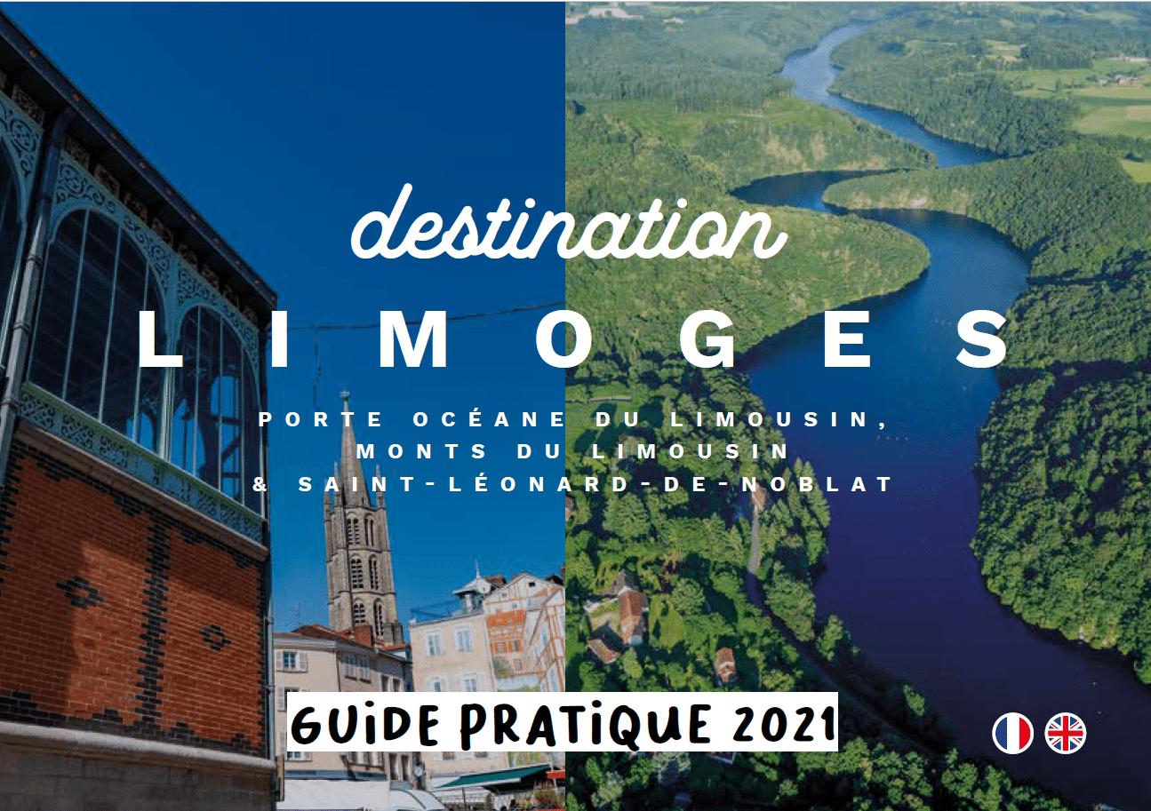 Couverture guide pratique Destination Limoges 2021