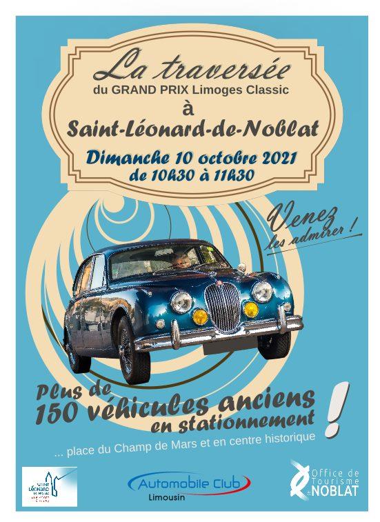 Rassemblement de voitures anciennes à Saint Léonard de Noblat